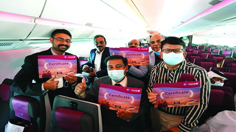 Qatar Airways world's first to operate fully Covid-19 vaccinated flight